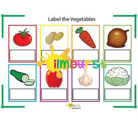 Label the Vegetables (Worksheet)