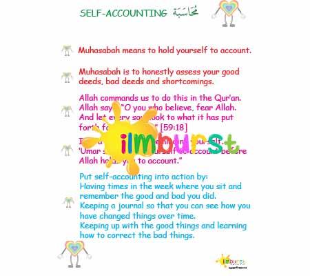 Self Accounting (Muhasabah) Infosheet Lower Level