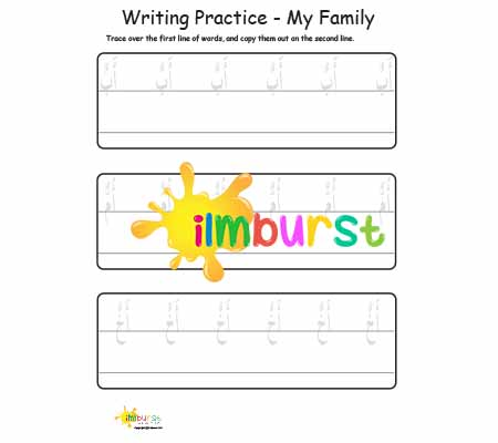 Writing Practice – My Family