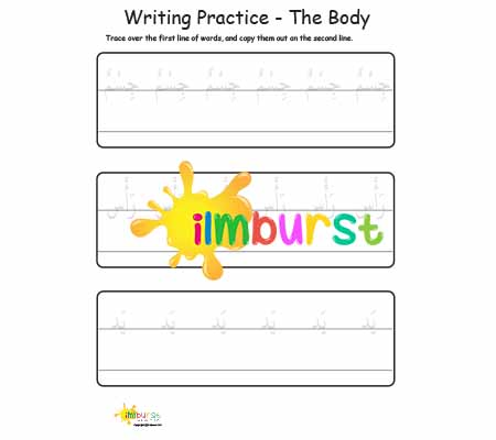 Writing Practice – The Body