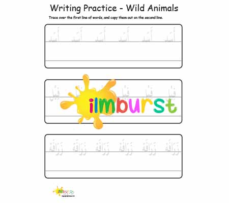 Writing Practice – Wild Animals
