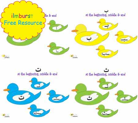 Arabic Alphabet, Big & Small Letters Pack – Alif to Yaa