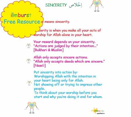 Sincerity (Ikhlas) Lower Level