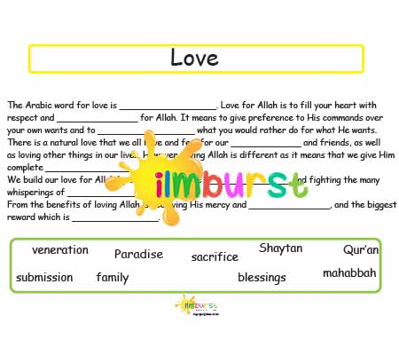 Love (Mahabbah) Fill in the Blanks