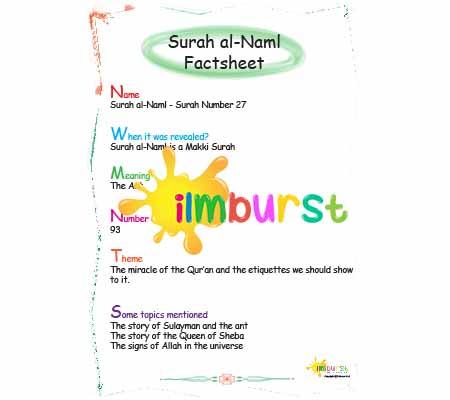 Surah al-Naml – Factsheet