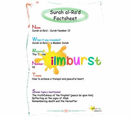 Surah al-Ra'd – Factsheet