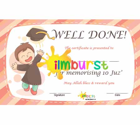 Completed 10 Juz' – Happy Design
