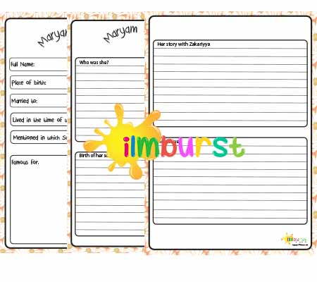 4 Greatest Women – Maryam Notebooking Pages