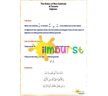 Nun Sakinah & Tanwin – Idgham