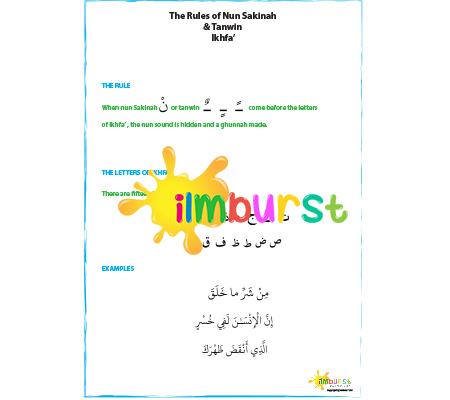 Nun Sakinah & Tanwin – Ikhfa'