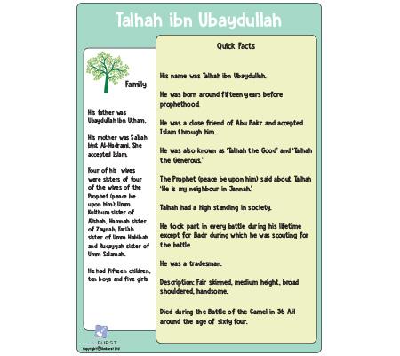 Talhah ibn Ubaydullah – Factfile